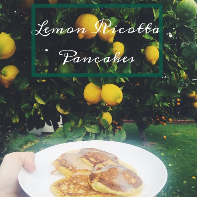 Fresh Lemon Ricotta Pancakes